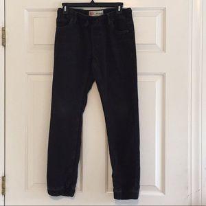 🆕🐝Boys LEVIS Black Knit Jean Jogger SZ L 12-13YR